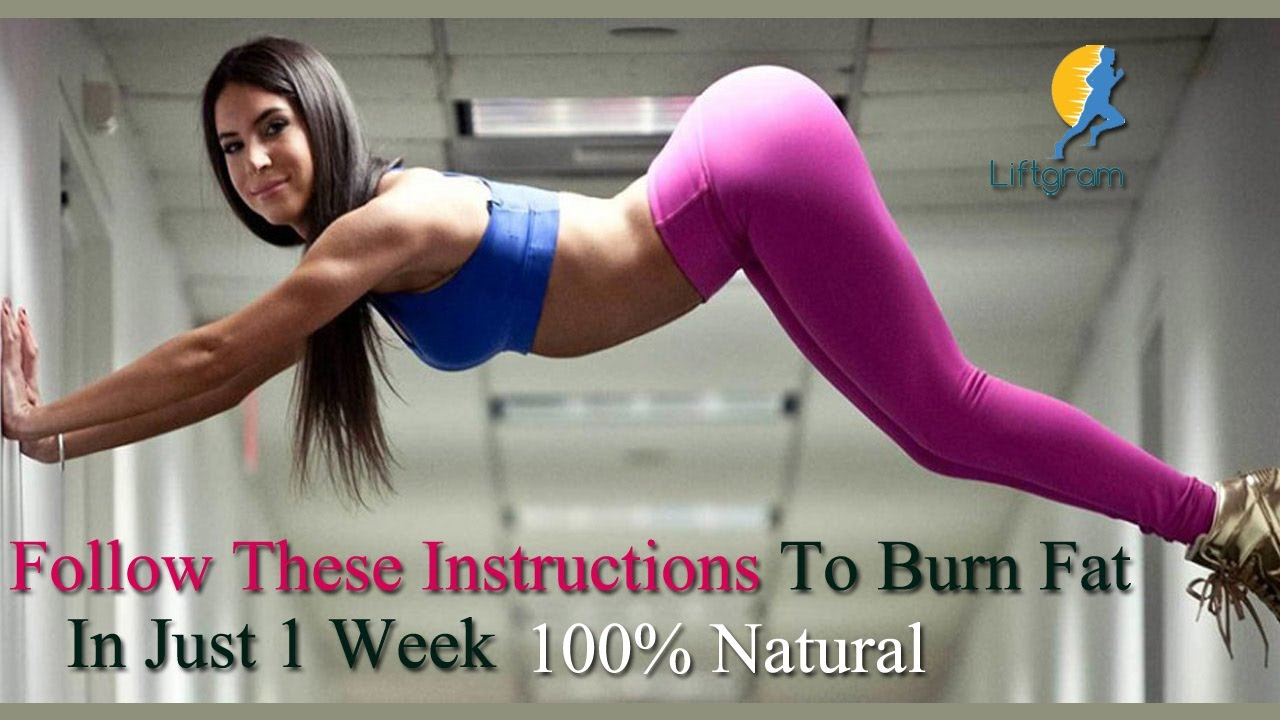 Reduce Belly Fat In 1 Week How To To Burn Belly Fat In One Week