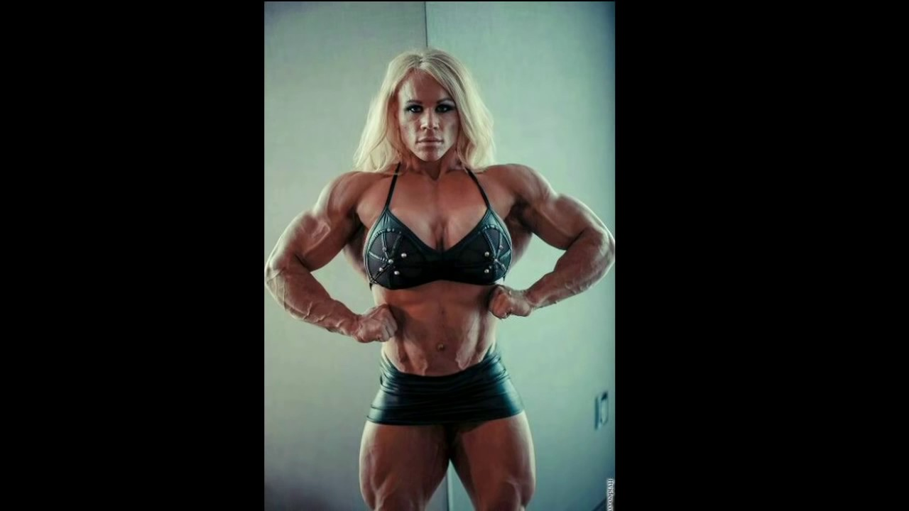 Alesha Young Muscular Best Abs Huge Legs Big Biceps Posing
